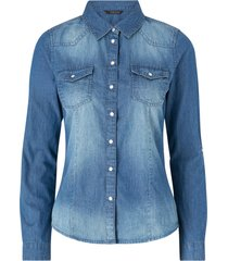 jeansskjorta onlalways rock it fit l/s shirt
