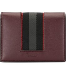 bally babie embroidered stripe wallet