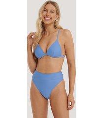 na-kd swimwear maxi highwaist bikini panty - blue