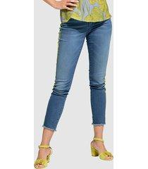 jeans alba moda blauw::limoengroen