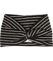 zhoe & tobiah knotted stripe knit headband - grey