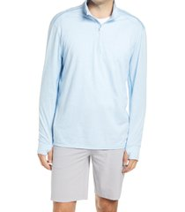 men's tommy bahama island active half-zip sweatshirt, size x-large - blue