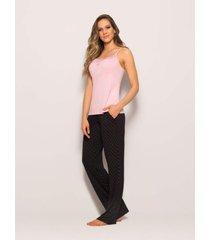 pijama any any viscose rosa