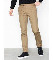 selected homme slhslim-carlo pants b noos byxor ljus brun