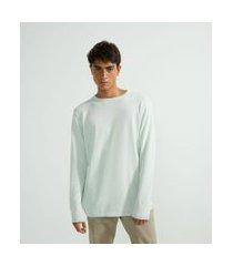 suéter básico liso | blue steel | azul | m