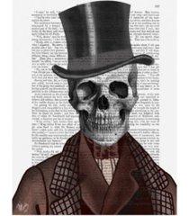 "fab funky skeleton gentleman and top hat canvas art - 27"" x 33.5"""