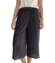 pantalón cullote plizado para mujer x49501