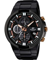 reloj casio edifice efr-544bk-1a9 lujoso para hombre - negro