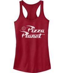 fifth sun disney women's toy story pizza planet logo racerback tank top