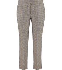 alexander mcqueen micro houndstooth trousers