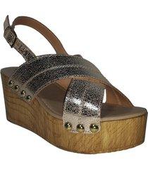 sandalia grande plateado we love shoes