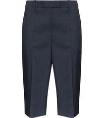 givenchy bermuda straight fit shorts - blue