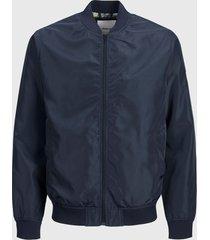chaqueta jack & jones bomber azul - calce regular