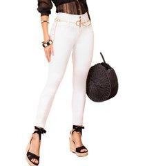 jeans colombiano 1333 blanco bartolomeo