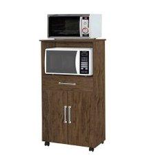 gabinete de cozinha ipe para forno e microondas 2 pt 1 gv amêndoa