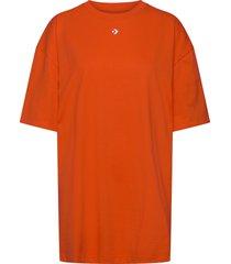 wordmark over d tee dress black dresses t-shirt dresses orange converse