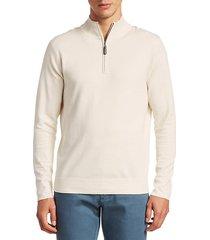 collection. silk-blend quarter-zip sweater