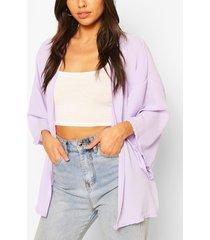 chiffon kimono, lilac