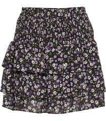 grdn patch smock skrt kort kjol multi/mönstrad michael kors