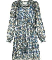 jurk met azteken print march  blauw