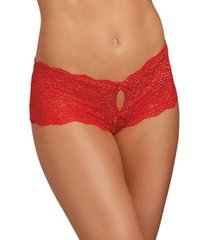 dreamgirl women's lace panty with heart cutout back