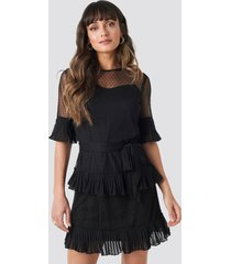 trendyol cleo mini dress - black