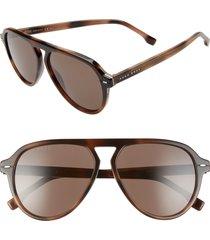 men's boss 57mm flat top sunglasses - havana