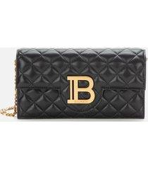 balmain women's quilted logo smartphone case - black