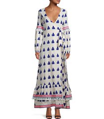 maxi wrap cotton dress