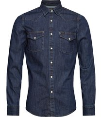 lee western shirt overhemd casual blauw lee jeans