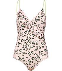 riviera swimsuit baddräkt badkläder rosa by malina
