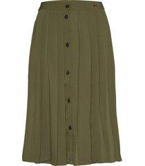 pleated midi skirt knälång kjol grön bobo choses
