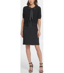 dkny s/s cover-up with georgette tie