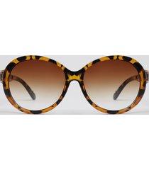 óculos de sol redondo feminino yessica tartaruga