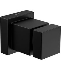 "acabamento de registro cubo black matte 3/4"" 4900.bl86.mt - deca - deca"