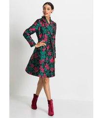 korte coat met bloemenprint