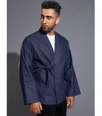 chaqueta de punto de color sólido con protección solar retro informal para hombre
