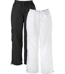 pantaloni cropped (pacco da 2) (nero) - bpc bonprix collection