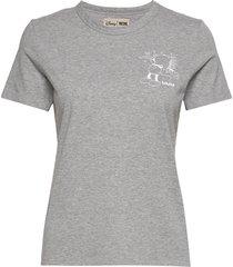 aria t-shirt t-shirts & tops short-sleeved grå wood wood