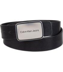 calvin klein men's ckj plaque belt