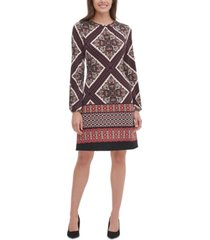 tommy hilfiger patchwork-print a-line dress
