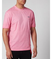 hugo men's donight t-shirt - bright pink - xxl