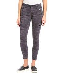 mavi jeans juliette camo skinny cargo pants, size 34 in smoke camo at nordstrom