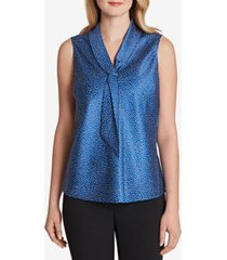 tahari asl satin tie-neck top