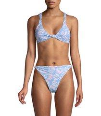 printed knot bikini top