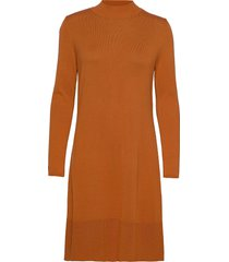 dresses flat knitted kort klänning brun esprit collection