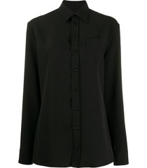 maison margiela convertible cami shirt top - black