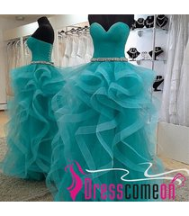 ball gown sweetheart turquoise long prom dress,evening dress,party dresses q26