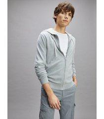 tommy hilfiger men's icon organic cotton hoodie heather grey melange - xxl