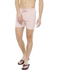 traje de baño blocktres classic rosa - calce regular